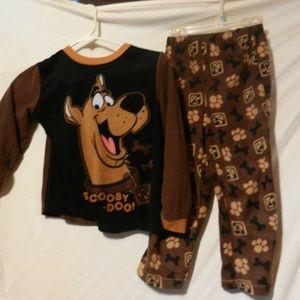 Boys 2 pc Scooby Doo Shirt Pant Set Outfit M 8